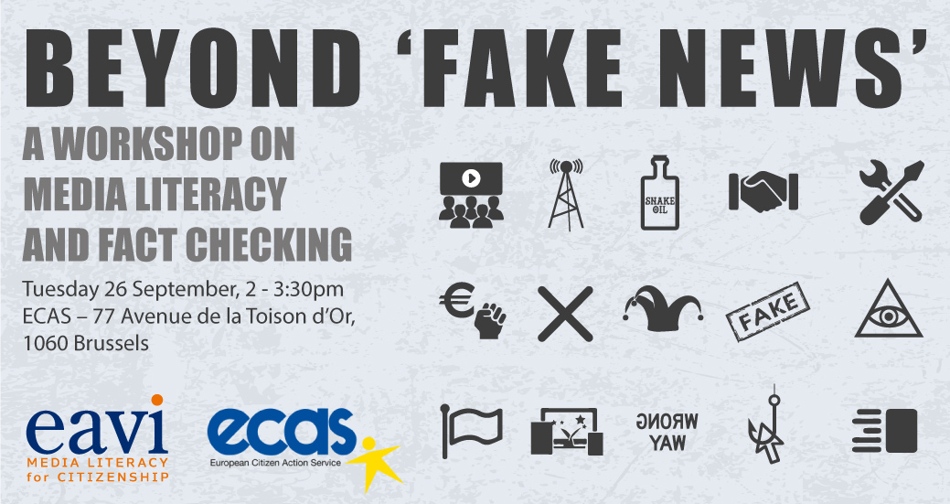 """Beyond """"Fake News"""" – A workshop on media literacy and fact checking"""