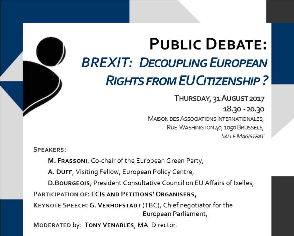 Public Debate – Brexit: Decoupling European Rights from EU Citizenship?