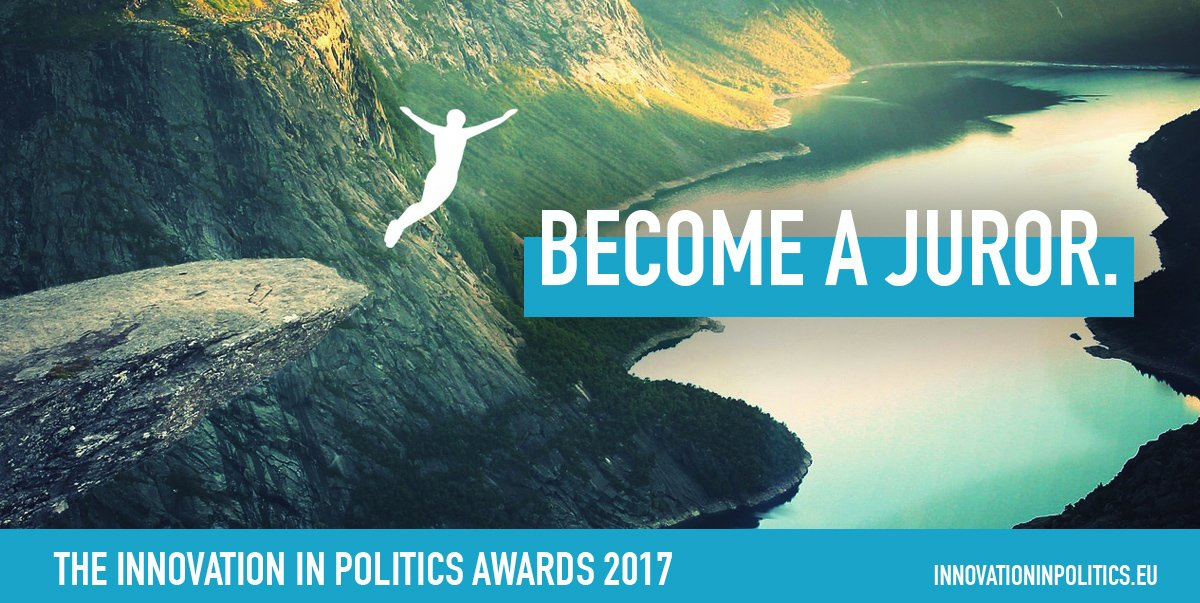 Become a juror for the Innovation in Politics Awards!