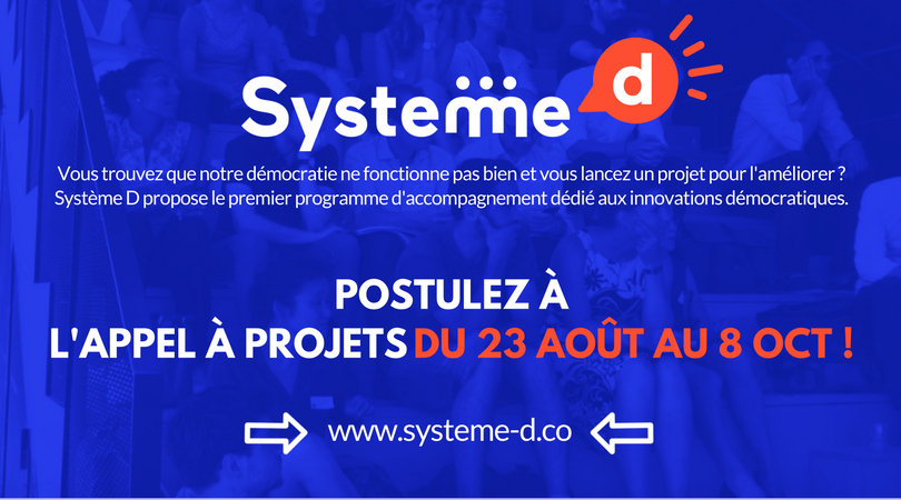 Apply with your democratic projet now !