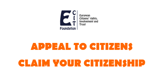 Appeal to European citizens: CLAIM YOUR CITIZENSHIP
