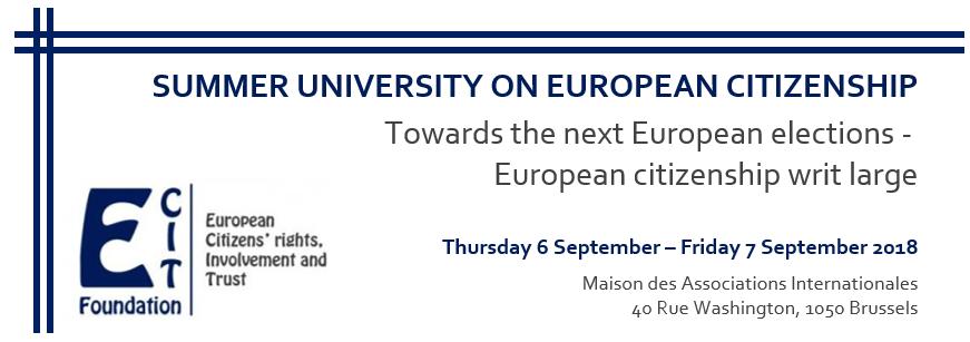 Summer University on European Citizenship 2018