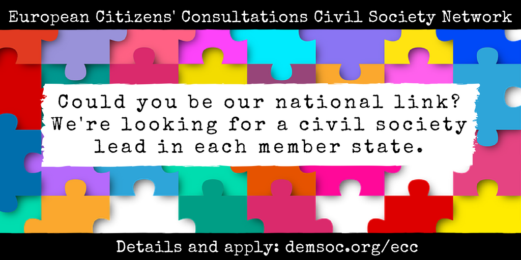 [call for participants] European Citizens' Consultations Civil Society Network