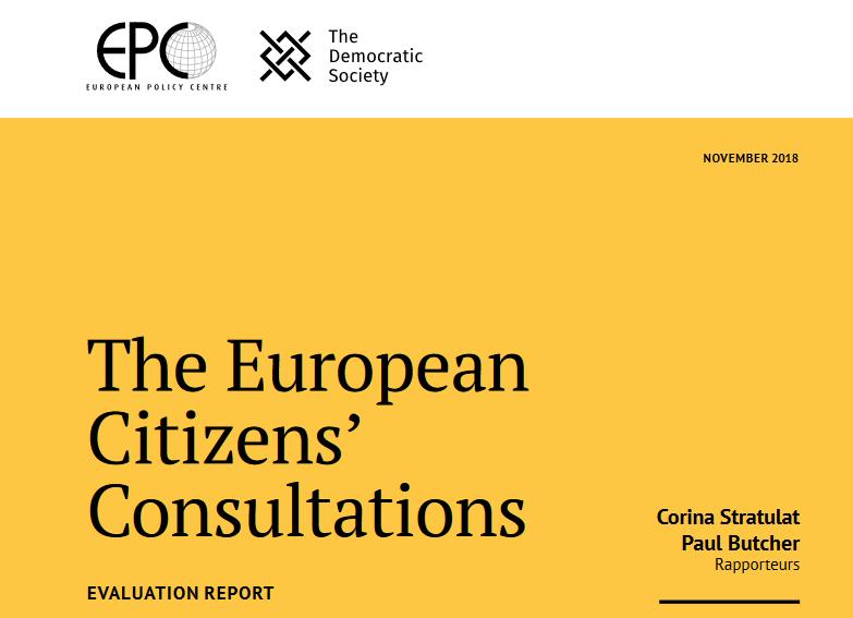 The European Citizens' Consultations – Evaluation report