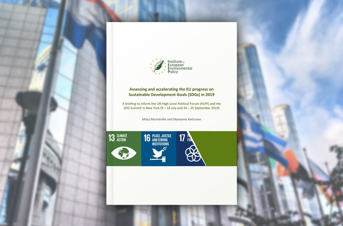 Assessing and accelerating the EU progress on Sustainable Development Goals (SDGs) in 2019