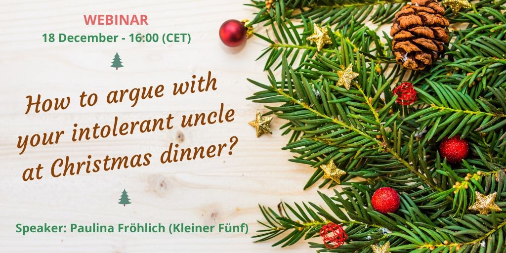 [Webinar] Radical politeness – How to argue with your intolerant uncle at Christmas dinner ?