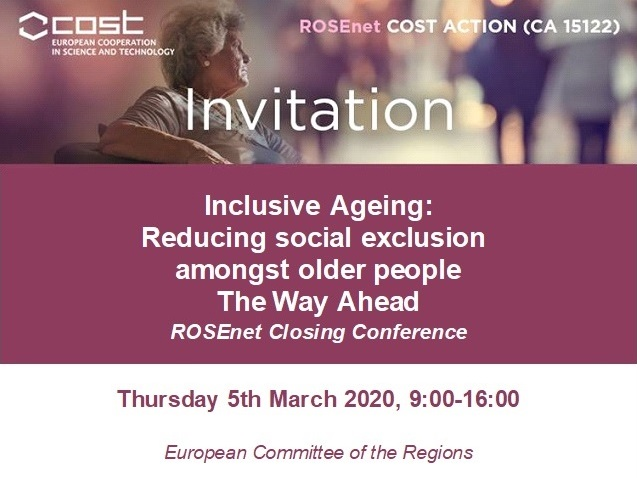 Inclusive Ageing: Reducing Social Exclusion amongst Older People.