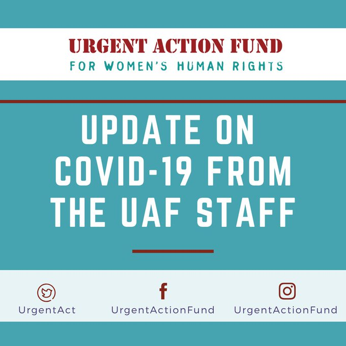 Urgent Action Fund: COVID-19 Rapid Response Funding
