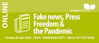 [Online] Fake news, Press Freedom & the Pandemic
