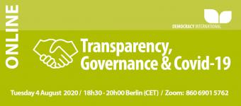 [Online] Transparency, Governance & Covid-19