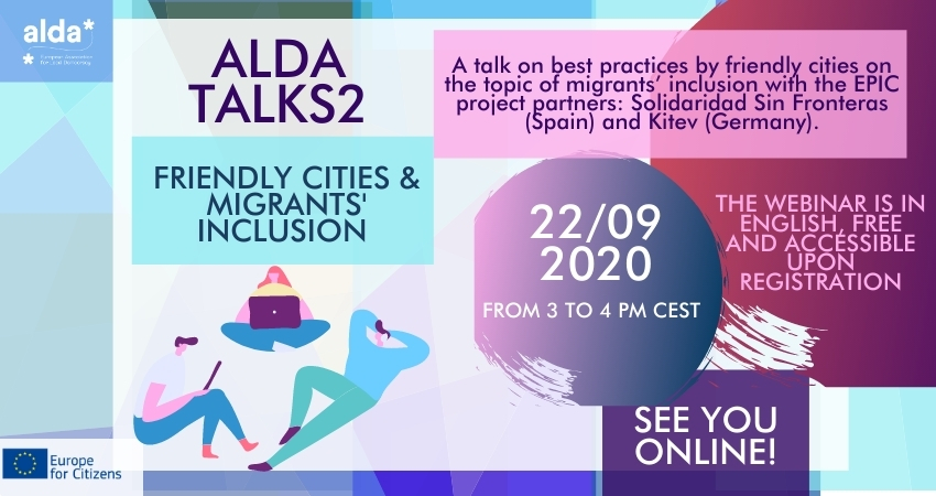 [Online] ALDA Talks: Friendly cities and migrants' inclusion