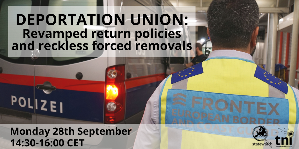 [Webinar] Deportation Union: revamped return policies and reckless forced removals