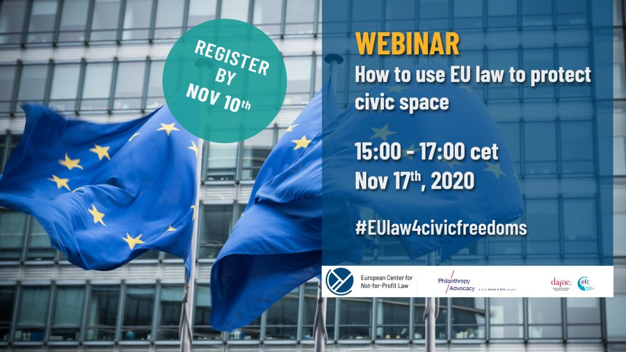 [Webinar] How to use EU law to protect civic space
