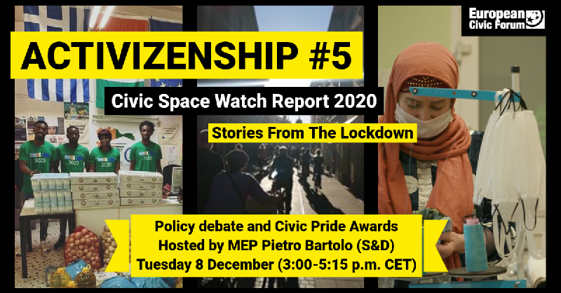 [Online] Civic Space Watch Report 2020 | Stories from the lockdown