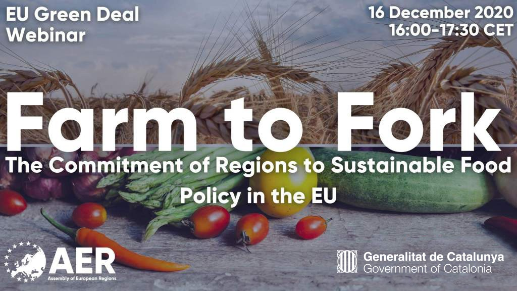 [Webinar] EU Green Deal – Farm to Fork – The Commitment of Regions to Sustainable Food Policy in the EU