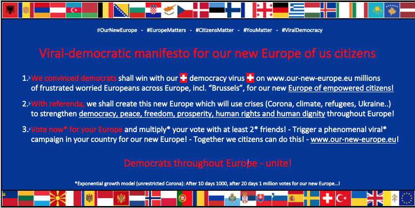 Europe's viral democratic reset by its citizens!
