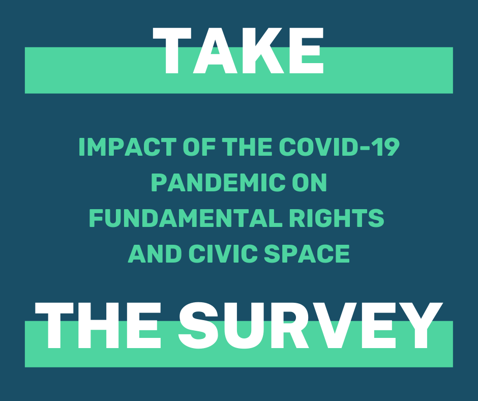 [Survey] The implications of the COVID-19 pandemic on fundamental rights and civic space