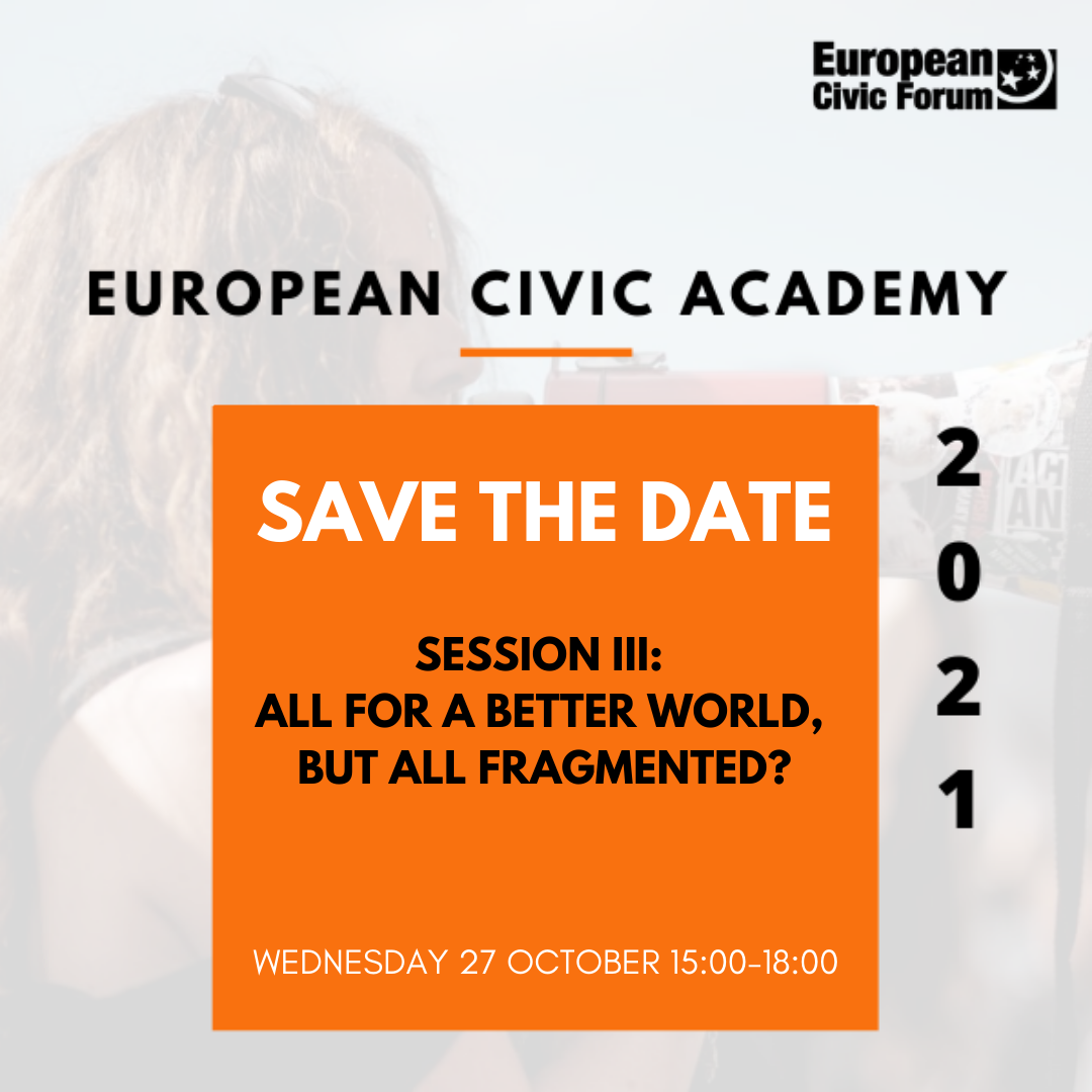 [Online] European Civic Academy – Building Trust in Democracy: All for a better world, but all fragmented?